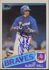 Albert Hall Braves Pirates Autographed 1985 Topps #676 Signed Card 16L