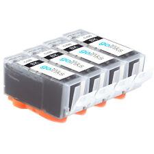 4 Cartucce d'Inchiostro Nero (PGI) per Canon Pixma iP7250 MG5550 MG6650 MX925