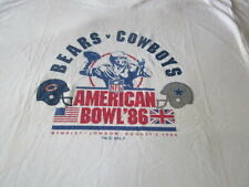 CHICAGO BEARS DALLAS COWBOYS VINTAGE 1986 NFL TEE SHIRT LONDON MINT LARGE