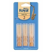 Rico Royal Tenor Saxophone Reeds #2 (3-Pack) NEW rkb0320