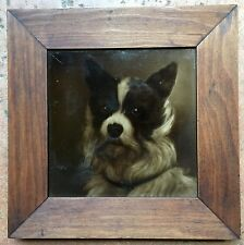 Terrier Dog  Framed Sherwin & Cotton Plaque Tile