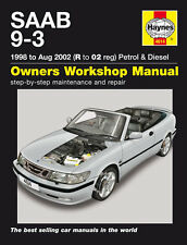 Saab 9-3 / 9.3 (1998-2002) Reparaturanleitung workshop repair manual Buch book