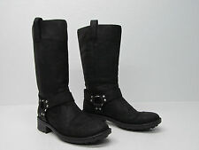 BORN MIRIAM HARNESS MOTORCYCLE BOOTS BLACK LEATHER Sz WOMEN'S 9/40.5 EUC