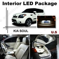For Kia Soul 2011-2013 Xenon White LED Interior kit + White License Light LED