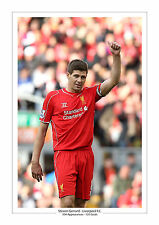 STEVEN GERRARD LAST ANFIELD GAME CAREER STATS LIVERPOOL A4 PRINT PHOTO