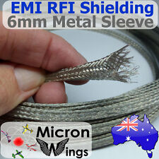 6mm EMI RFI Shielding Expandable Metal Braided Tinned Copper Cable Sleeving