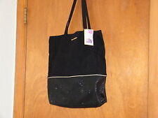 NWT Victoria's Secret Black Canvas Tote Bag with 3 Love Spell Products