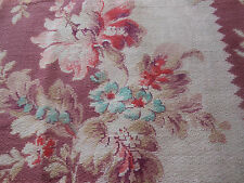 Antique French Time Faded Floral Fabric~Lavender Aqua Coral ~ pillows projects
