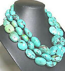 "Beautiful Green Turquoise Beads Necklace 50""Long"