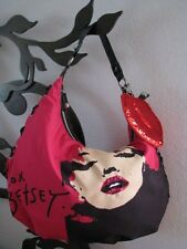 BETSEY JOHNSON MARILYN MONROE GRAPHIC HOT PINK HOBO BAG~RARE