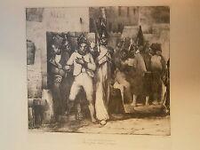 Planche gravure Je suis innocent dit le conscrit Par Nicolas Toussaint Charlet