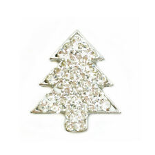 Rhinestone Christmas tree Charm Chunk Snap Button for Noosa Bracelet Necklace #9