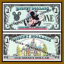 "Disney 1 Dollar, 1987 Series ""A"" First Issue Uncirculated"