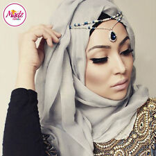 Hijab Pin Wedding Bridal Tikka Hair Bracelet jewellery Head piece Party navy