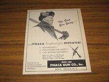 1951 Print Ad Ithaca Featherweight Repeater Shotguns Made in Ithaca,NY