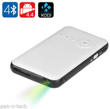 Android 4.4 Portable DLP Mini Projector: 100 Lumen Bluetooth WiFi 1080p HDMI
