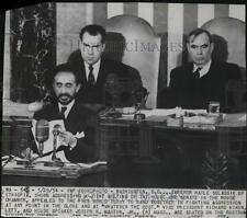 1854 Press Photo Emperor Haile Selassie of Ethiopia addressed a Joint Meeting