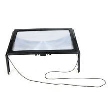 Ultrathin A4 Full Page PVC Magnifier 3X Foldable for Reading with LED Light US