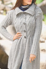 A Line Cable Coat in Chunky Yarn Size 12/14 Knitting Pattern Womans Ladies