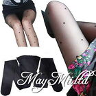 Womens Stylish Black Pretty Peach Heart Pattern Jacquard Pantyhose Tights Y