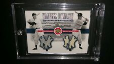 YANKEES DYNASTY DUAL JERSEY MANTLE AND DIMAGGIO - RARE!!! L@@k!!
