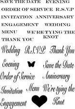 Sweet Dixie Clear Stamp Wedding Sentiments Save the Date invitation thank you