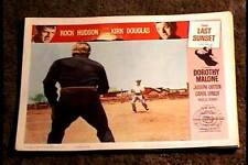 LAST SUNSET 1961 LOBBY CARD #2 KIRK DOUGLAS SHOOT OUT
