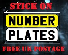 Número plate-vehicle-stick on-self adhesive-caravan-trailer-motor Car-Ciclo