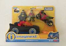 NIB Fisher-Price DC Super Friends Imaginext Batmobile and Cycle Batman and Robin