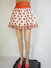 Ladies Retro Boho Circle Ethnic Sequin Embellish Cotton Short Skirt sz XL AP84