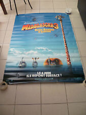 MADAGASCAR 3 Dreamworks  4x6 ft Bus Shelter Original Movie Poster 2012