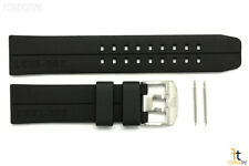 Luminox 6400 EVO F-117 Nighthawk 23mm Black Rubber Watch Band Strap 6401