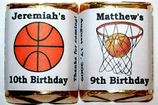 BASKETBALL BIRTHDAY PARTY FAVORS CANDY WRAPPERS