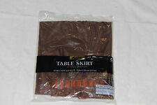 "Table skirts, plastic pleated 29""x14', brown"