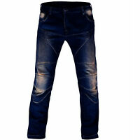 Men's Motorbike Motorcycle Trousers 14oz Jeans Denim With Protective Lining S017