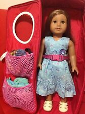 AMERICAN GIRL OF THE YEAR 2011 DOLL KANANI WITH CARRY BAG TWO OUTFITS AND MORE
