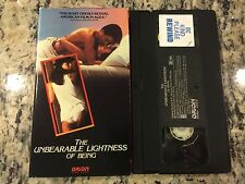 THE UNBEARABLE LIGHTNESS OF BEING RARE OOP VHS! HTF ON DVD! EROTIC NUDITY SEXY!