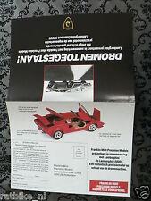 O176 FLYER BROCHURE DUTCH 2 PAGES,LAMBORGHINI COUNTACH 5000S