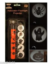 4 X HALLOWEEN TOY TORCH LIGHT PROJECTION FLASHLIGHT KIDS SEE DARK TRICK OR TREAT