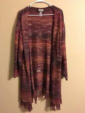 Beautiful Catherine's Long Open Cardigan Sweater Duster Size 2X