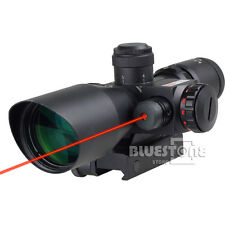 Professional 2.5~10X 40mm Dot Reticle Red Laser Sight Rifle Scope w/ Mount