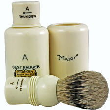 Simpsons Major A Best Badger Hair Cream Travel Shaving Brush (M1B)
