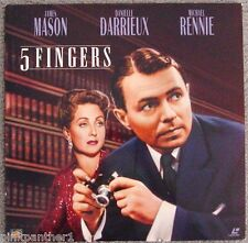 5 FINGERS World War II Spy True Story Operation CICERO  James Mason  Laserdisc