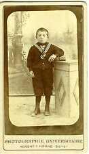 Nogent sur Marne Photographie Universitaire enfant costume marin pose CDV photo