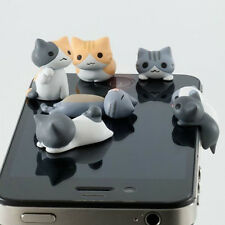 6pcs Cheese Cat 3.5mm Anti Dust Earphone Jack Plug Stopper For iphone Phone