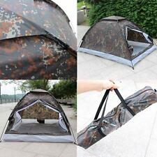 Portable Folding Tent For 2 Person Outdoor Camping Hiking Trekking Camouflage