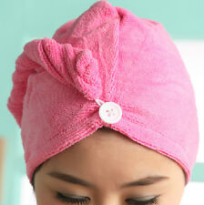 Set Of 2 Cotton Hair Wrap Fast Drying Dryer Towel Bath Wrap Twist Quick Dry Head