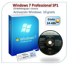 Windows 7 Professional SP1 - DVD + LICENSE COA - FOR LIFE - DOESN'T EXPIRES
