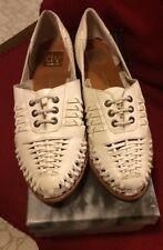 Dolce Vita DV 7.5 Hala Woven White Bone Leather Oxford Shoe NEW In Box Sandal
