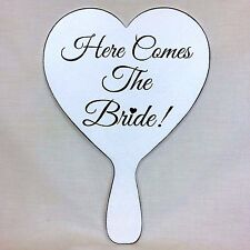 Here Comes The Bride Wedding Sign Bridesmaid Pageboy Flower Girl Vintage